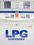 Gas lpg dispenser console Royalty Free Stock Image