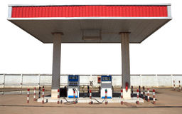 Gas lpg  liquid petroleum gas  station isolated white Stock Photography