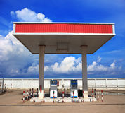 Gas lpg station with beautiful blue sky background Royalty Free Stock Image