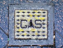 Gas Main Metal Cover Royalty Free Stock Photo