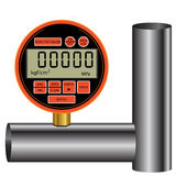 Gas manometer Royalty Free Stock Photo