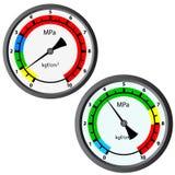Gas manometer isolated on white background Stock Images