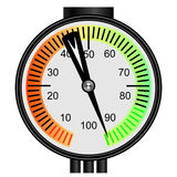 Gas manometer on a white background Royalty Free Stock Photo