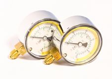 Gas manometers Stock Images