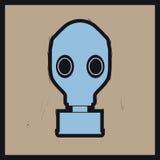 Gas mask. Pop art vector illustration stock illustration