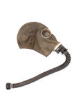 Gas mask. Old gas mask isolated on the white background Royalty Free Stock Photography