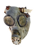 Gas mask. Detail of the old gas mask - isolated on white background Royalty Free Stock Photos