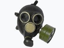 Gas mask. On a photo a gas mask, Russian manufacture Royalty Free Stock Photo