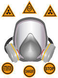 Gas mask. Of chemical and radiating protection in a vector Stock Images