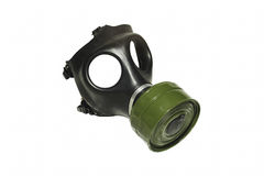Gas Mask. This is an Israeli youth gas mask with a type 80 NATO NBC filter attached Royalty Free Stock Photo
