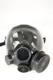 Gas Mask. Black gas mask on a white background Stock Photography