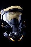 Gas mask. With skull and cross bones reflected in face shield Stock Photo