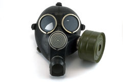 Gas mask. The gas mask is intended for protection against harmful air Royalty Free Stock Photo
