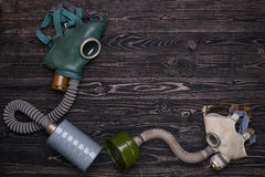 Gas mask for adult and child Stock Image