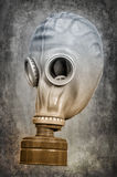 Gas mask on the ashen-gray background Stock Image