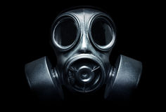 Gas Mask. A black military gas mask for protection