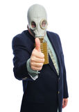 Gas mask business man Royalty Free Stock Image