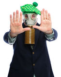 Gas mask business man Stock Image