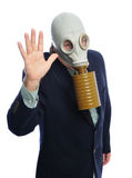 Gas mask business man Royalty Free Stock Photography