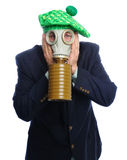 Gas mask business man Stock Images