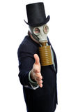 Gas mask business man Stock Photography