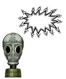 Gas mask-100. Cartoon image of gas mask. An artistic freehand picture Stock Images