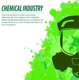 Gas mask and chemical industry Royalty Free Stock Photo