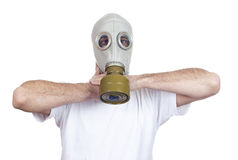 Gas mask danger Royalty Free Stock Images