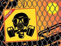 Gas mask. Danger sign vector illustration