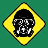 Gas mask Dekorativer Hintergrund als stilisiert Strudel der Wellen stock abbildung