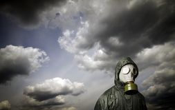 Gas mask. Survival theme. Stock Image