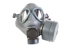 Gas mask with filter Stock Image