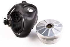 Gas Mask and Filter Royalty Free Stock Images