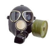 Gas mask with filter mounted on side of the mask Royalty Free Stock Photo