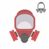 Gas mask flat icon Stock Photography