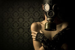 Gas Mask Girl Royalty Free Stock Photos
