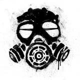 Gas Mask. Graffiti with splatter on white or transparent background vector illustration