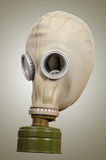 Gas mask on a gray background Royalty Free Stock Photo