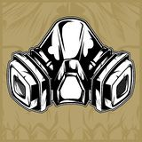 Gas mask hand drawing vector royalty free illustration