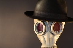 Gas Mask With A Hat Stock Photo
