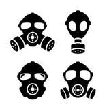 Gas mask icon. Gas mask respirator icon set royalty free illustration