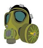 Gas mask illustration isolated on white background. Bio hazard equipment against air contamination. Police and military tool for special force stock illustration