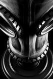 Gas mask isolated. On black background Royalty Free Stock Image