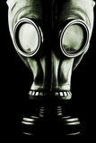 Gas mask isolated. On black background Stock Photography
