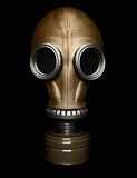 Gas mask isolated on black. Clipping path Stock Photo