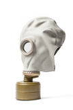 Gas Mask - Isolated with Clipping Path. Old gas protective mask with clipping path isolated on white background. This rubber mask with filter is used to protect Royalty Free Stock Images