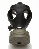 Gas mask isolated + shadow. Gas mask - isolated on white - shadow Royalty Free Stock Photography
