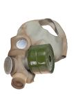 Gas Mask Isolated on White Stock Photos