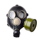 The gas mask isolated Stock Images