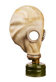 Gas mask isolated on white background for a collages. Old gas mask isolated on white background for a collages Royalty Free Stock Photo